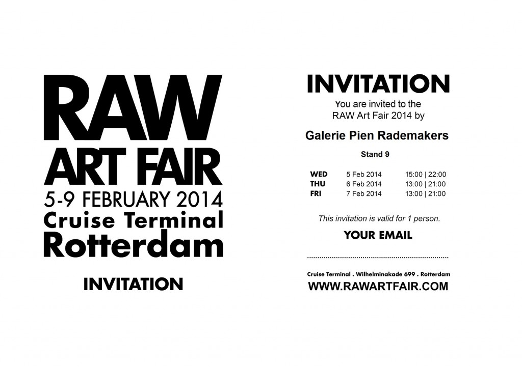 RAW Art Fair 2014 Pien Rademakers Invitation